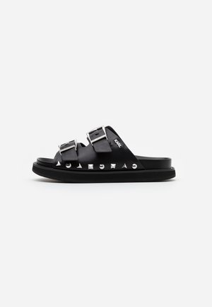 MEDINA BUCKLE TWO STRAP - Pantofle - black