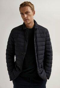 Massimo Dutti - Winter jacket - blue-black denim - 0