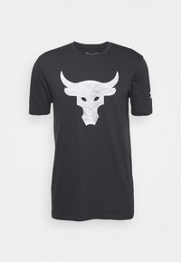 Under Armour - ROCK BRAHMA BULL - T-shirt z nadrukiem - black - 3
