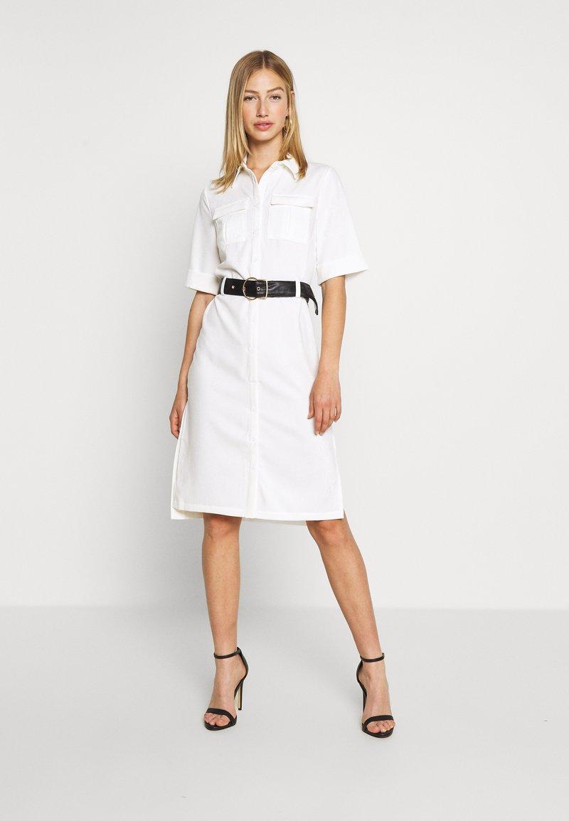 4th & Reckless - LORI BELTED DRESS - Shirt dress - cream