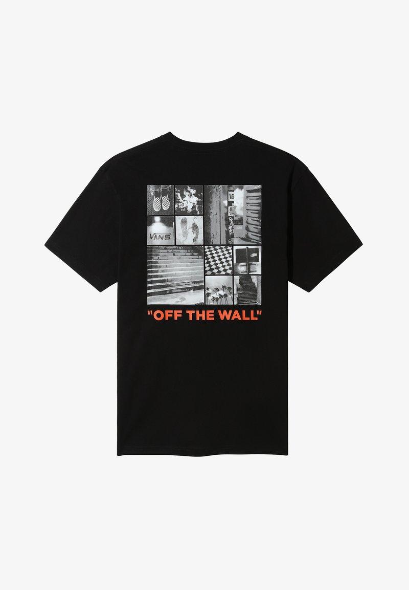 Vans - MN VANS FOTO COLLAGE SS - Print T-shirt - black