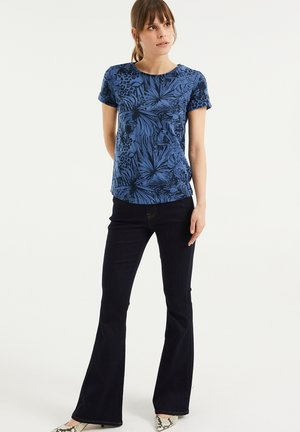 MET STRETCH - Flared Jeans - dark blue