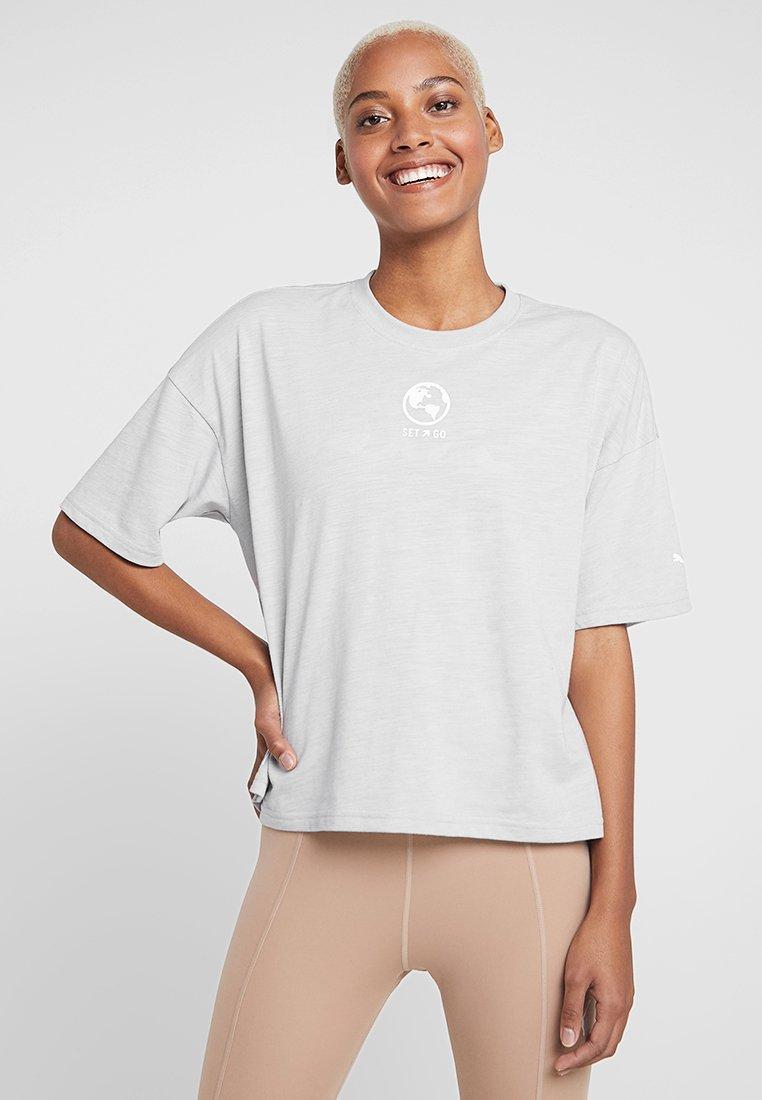 Puma - TEE - Print T-shirt - mottled light grey