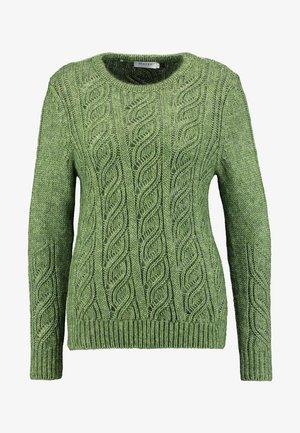 RUNDHALS - Sweter - bright olive