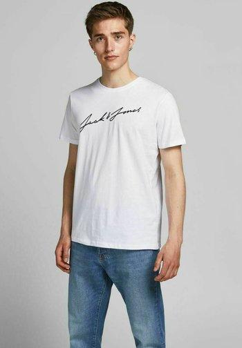 5PACK - T-shirt med print - white