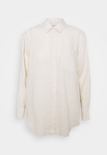 OVERSIZED - Button-down blouse - beige