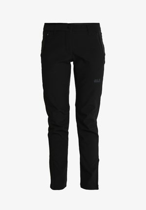 ZENON PANTS WOMEN - Ulkohousut - black