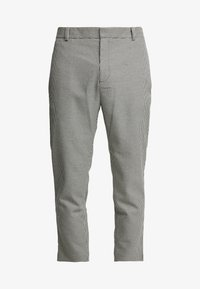 TROUSER HERITAGE DOGSTOOTH - Trousers - black/white