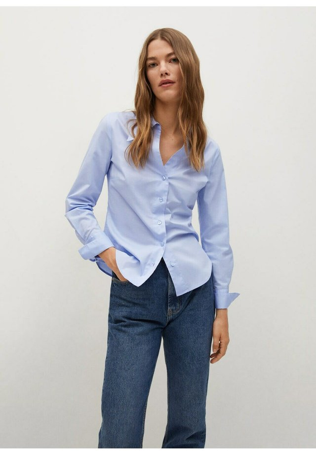 Femme Chemise Formel Chemisier à rayures bleu Smart Mode Décontracté Taille 6-16