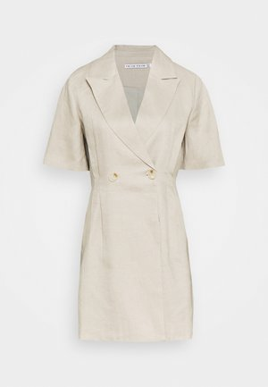 TUCKED IN BLAZER DRESS - Vestido informal - pebble