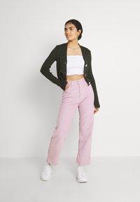 Levi's® - RIBCAGE STRAIGHT ANKLE - Trousers - pebble keepsake lilac - 1
