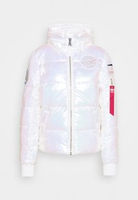 Alpha Industries - HOODED PUFFER NASA  - Winter jacket - white - 4