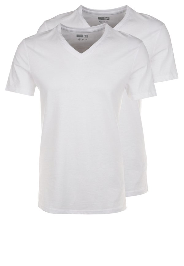 Pier One 2 PACK - T-shirt basic - white/biały Odzież Męska MMVU