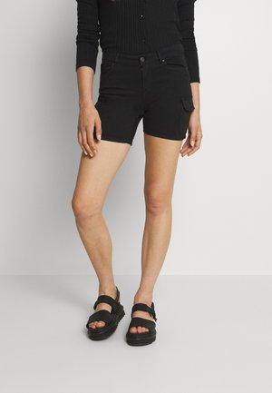 ONLMISSOURI LIFE - Denim shorts - black