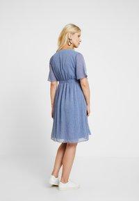 Glamorous Bloom - PIN SPOT WRAP DRESS - Denní šaty - blue - 3