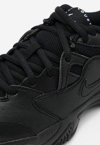 Nike Performance - COURT JR LITE 2 UNISEX - Multicourt tennis shoes - black - 5