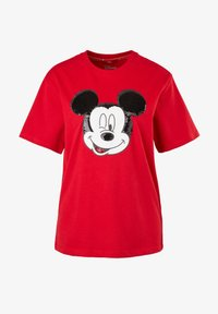 s.Oliver - KURZARM - Print T-shirt - red - 6
