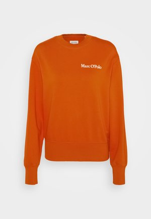 OVERSIZED, LONG SLEEVE, HIGH NECK, PLACED PRINT - Sweatshirt - pumpkin orange
