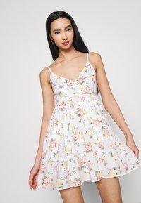 Hollister Co. - BARE FEMME SHORT DRESS - Day dress - white - 3