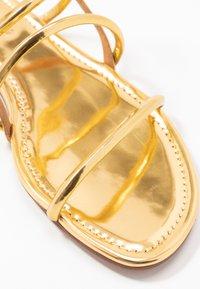 Pura Lopez - Sandals - mirror gold - 2