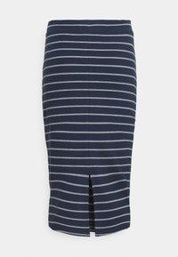 Tommy Jeans - LONG BODYCON STRIPES SKIRT - Pencil skirt - twilight navy - 6