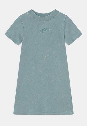 WASHED MOCKNECK DRESS - Jersey dress - blue