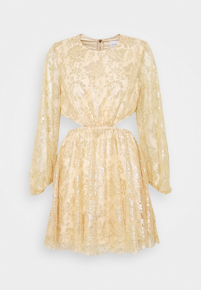 MAGIC THINKING MINI DRESS - Robe de soirée - gold