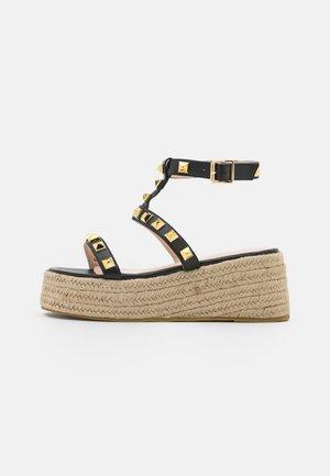 WIDE FIT MOXIE - Platform sandals - black