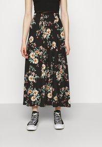 ONLY - ONLZILLE NAYA SKIRT - Maxi skirt - black - 0