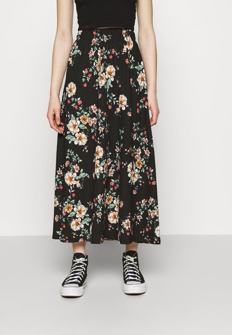 ONLY - ONLZILLE NAYA SKIRT - Maxi skirt - black