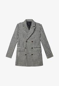 MIT FISCHGRÄTENMUSTER - Short coat - white