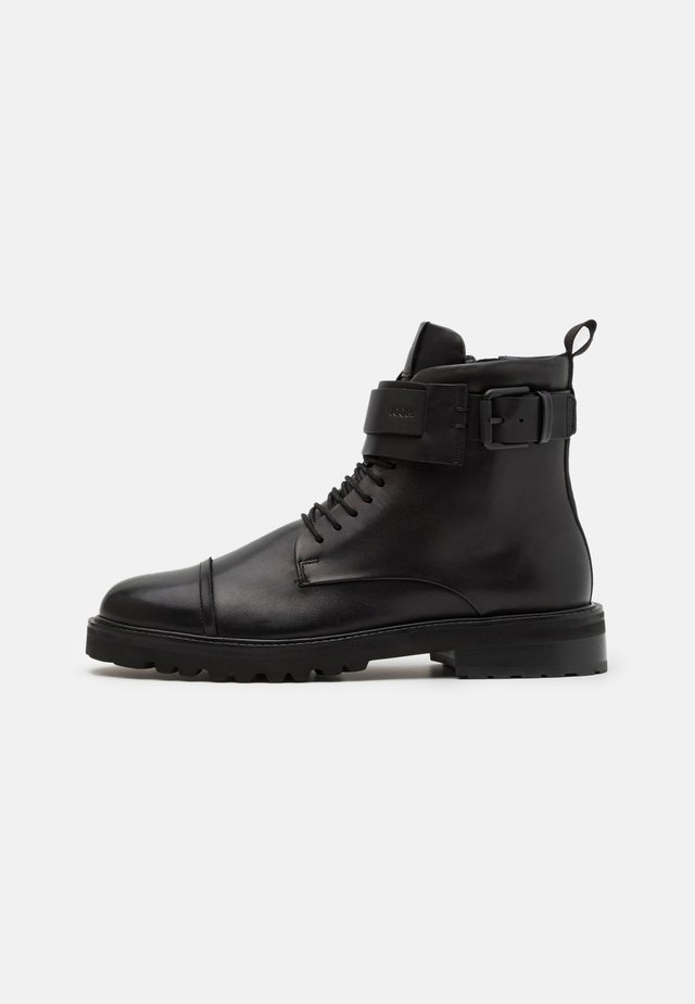 PERO MARIO BOOT - Lace-up ankle boots - black