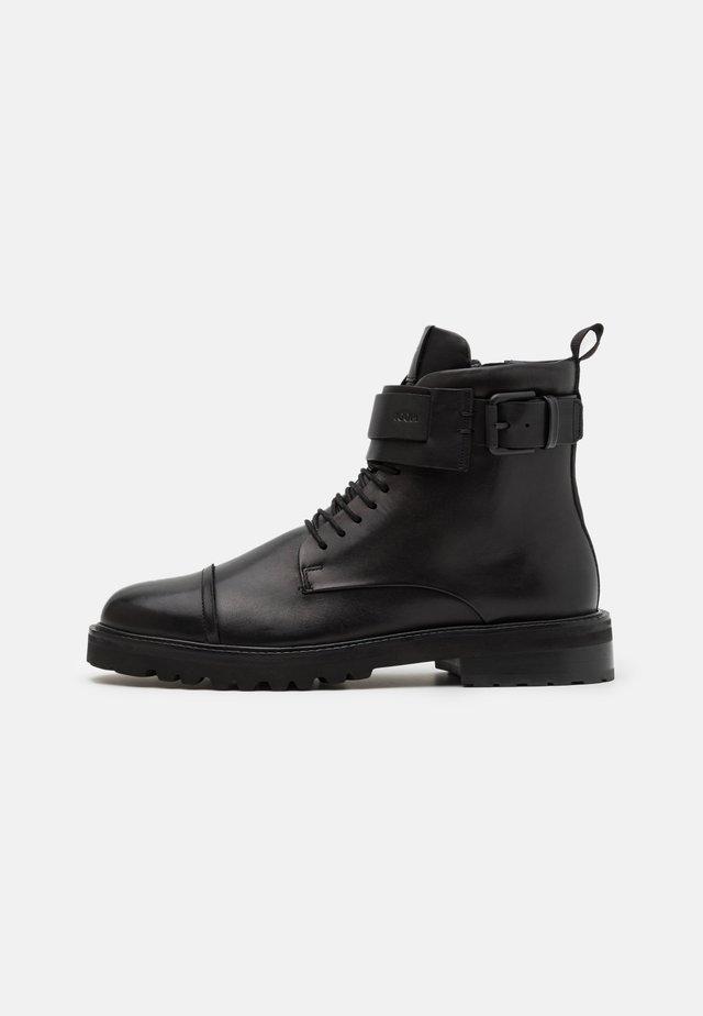 PERO MARIO BOOT - Veterboots - black