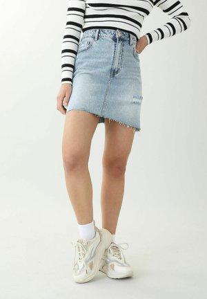 A-line skirt - denimblau