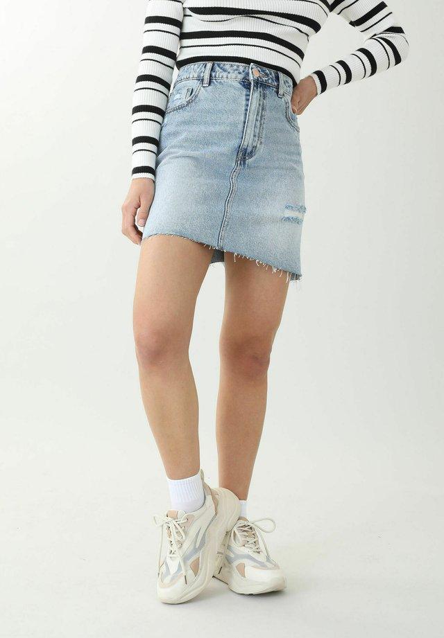 Áčková sukně - denimblau