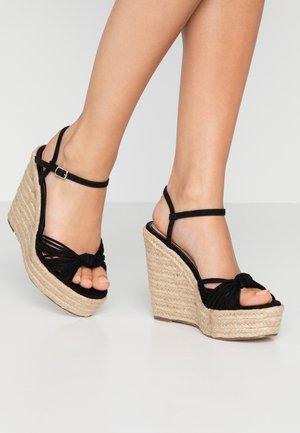 WALLACE - Sandály na vysokém podpatku - black