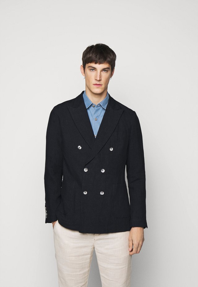 COOTON DECONSTRUCTED BLAZER - Sako - dark navy