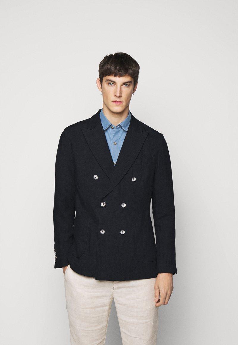 Frescobol Carioca - COOTON DECONSTRUCTED BLAZER - Blazer jacket - dark navy