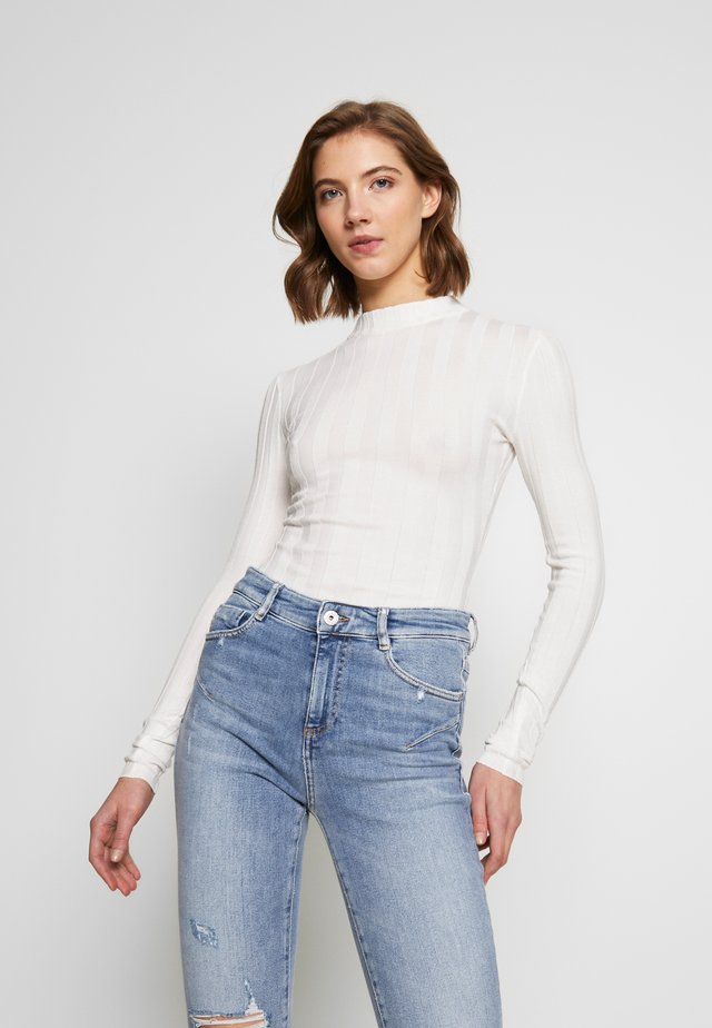 EXTREME CREW NECK BODYSUIT - Jumper - white