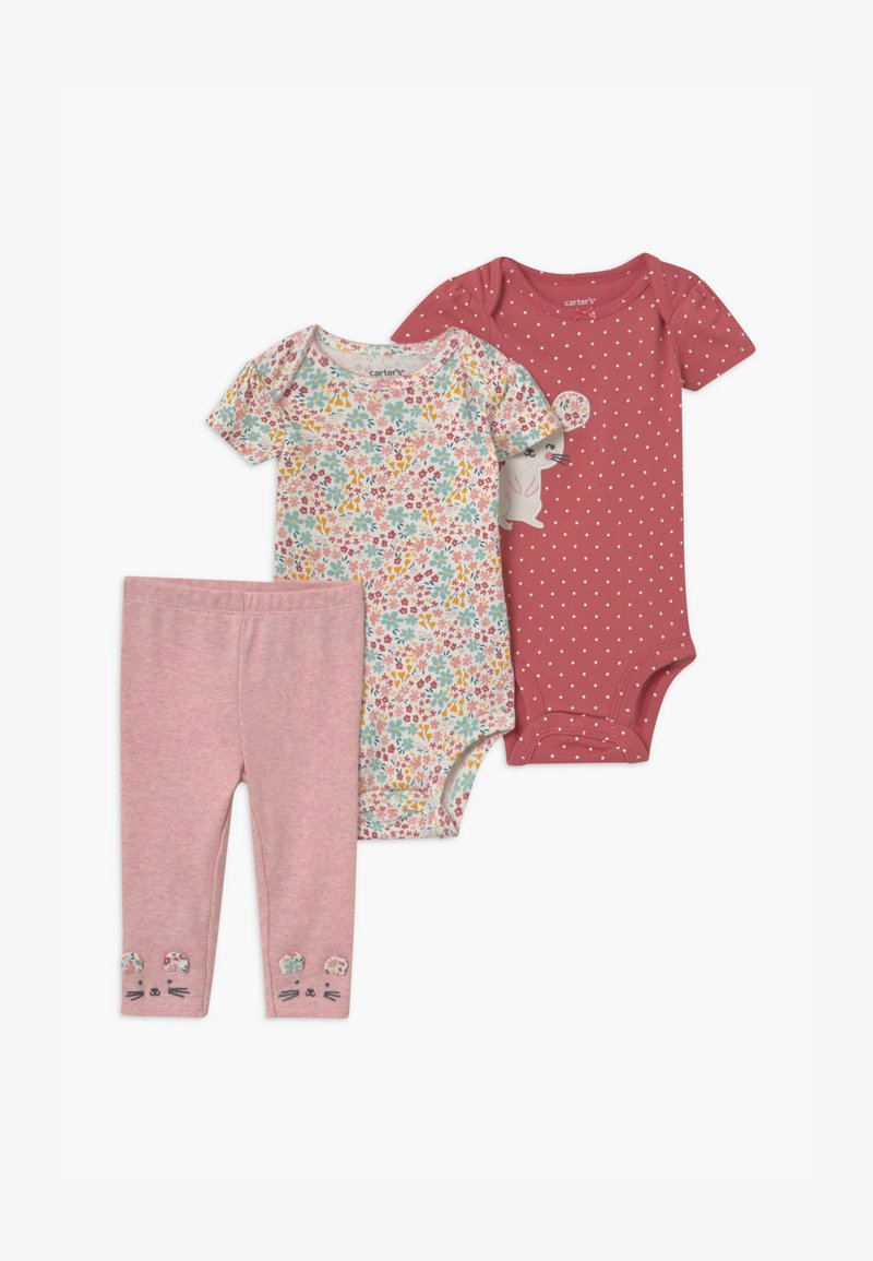 Carter's - MOUSE 2 PACK SET - Leggings - Trousers - light pink