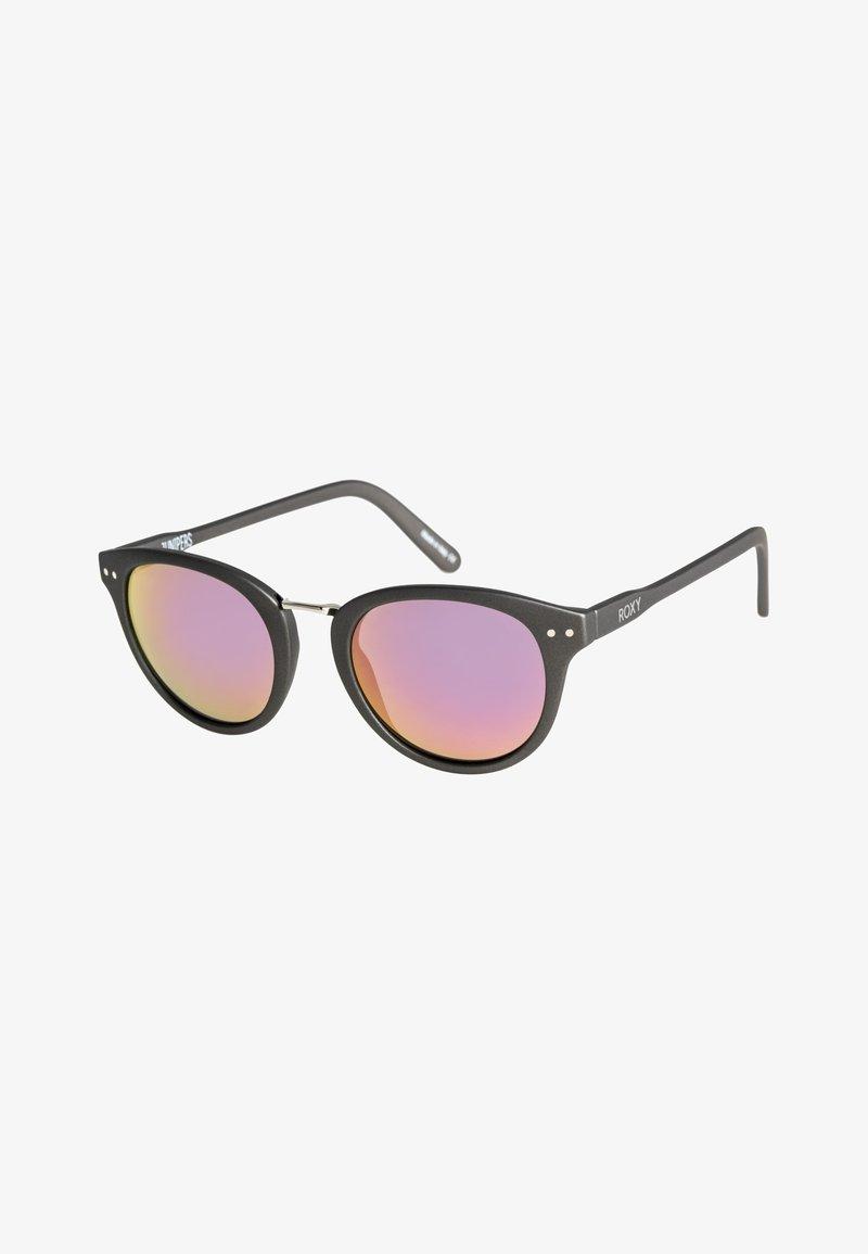 Roxy - JUNIPERS  - Sunglasses - matte grey/flash rosegold