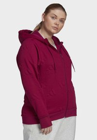 adidas Performance - AEROREADY JACQUARD FULL-ZIP LOGO HOODIE (PLUS SIZE) - Sudadera con cremallera - purple - 5