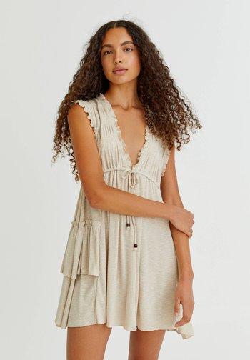 Jumper dress - mottled beige