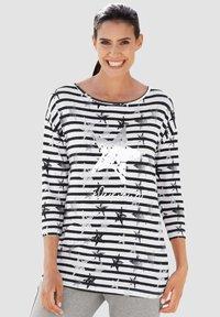 Laura Kent - Long sleeved top - schwarz weiß - 0