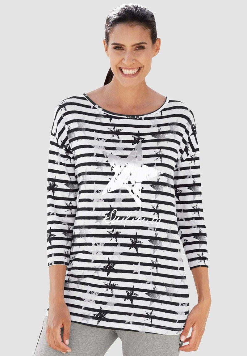 Laura Kent - Long sleeved top - schwarz weiß