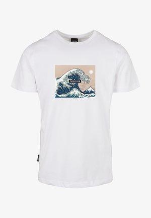 T-shirt print - white/mc