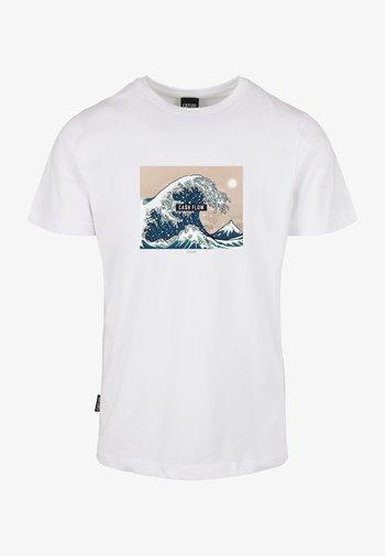 Print T-shirt - white/mc