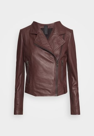PAISLY - Leather jacket - rot