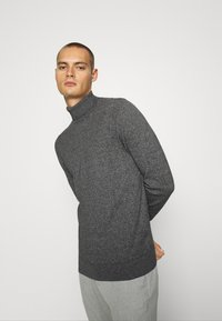 Burton Menswear London - FINE GAUGE ROLL  - Jumper - grey - 3