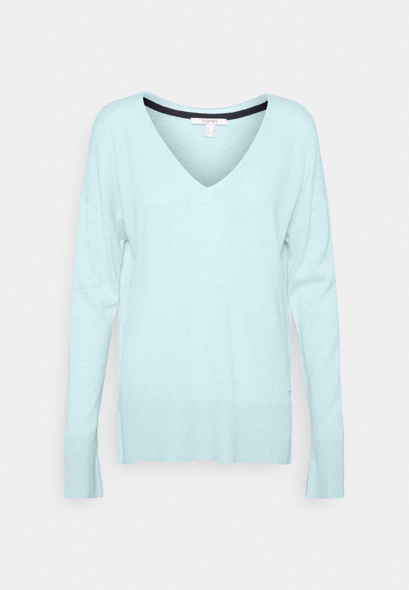 Esprit - VNECK  - Jumper - light turquoise
